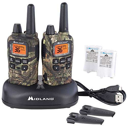 Midland - X-TALKER T65VP3, 36 Channel FRS Two-Way Radio - Up to 32 Mile Range Walkie Talkie, 121 Privacy Codes, NOAA Weather Scan + Alert (Pair Pack) (Mossy Oak Camo). Buy it now for 59.95