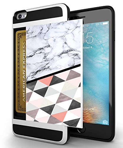Corpcase Credit Card Id Holder Wallet Case For Iphone 6s 6 Dual Slim Shock Resistant Hybrid Armor Case Holds 2 Cards Cash By Corpcase Designer Id Card Slider Pattern White Marble Dimand Pattern,Geometric Design Patterns For Kids