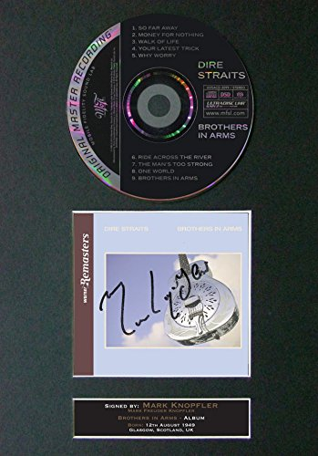 The Autograph Collector Dire Straits Brothers in Arms - Álbum de Fotos (297 x 210 mm), diseño con Texto Brothers in Arms