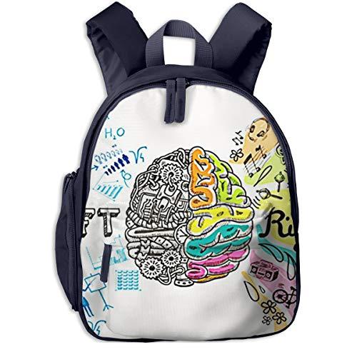 Kinderrucksack Kleinkind Jungen Mädchen Kindergartentasche Emotion Brain Left Analytical Backpack Schultasche Rucksack