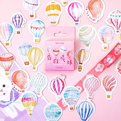 Rongzou Sticker - 46 stks/doos ballon briefpapier afdichting etiket, DIY Scrapbooking dagboek