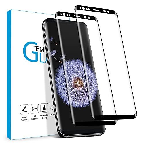 Carantee Panzerglas Schutzfolie für Samsung Galaxy S9, 9H Härte Schutzfolie, HD Displayschutzfolie, Anti-Kratzer/Bläschen/Fingerabdruck/Staub Panzerglasfolie für Samsung S9 [2 Stück]