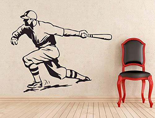 Tianpengyuanshuai Wandaufkleber Baseball Sport Wanddekoration Kinder Benutzerdefinierte Raumdekoration Vinyl Abnehmbares Wandbild 84X54cm