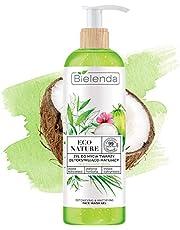 Bielenda Eco Nature - Woda Kokosowa + Zielona Herbata + Trawa Cytrynowa - Żel Do Mycia Twarzy Detoksykująco-Matujący, 200 G