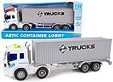 Toyland® Giocattolo per Camion con Container da 40 cm con luci e Suoni - Veicoli per Raga...