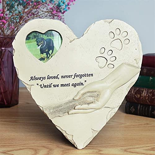 jinhuoba Heart-Shaped Pet Memorial Stones Dog Memorial Stones