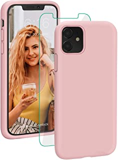 ProBien Case for iPhone 11 Liquid Silicone Shockproof Protective Case Cover Durable Drop Protection Bumper Compatible with iPhone 11 6.1 inch 2019-Sand Pink