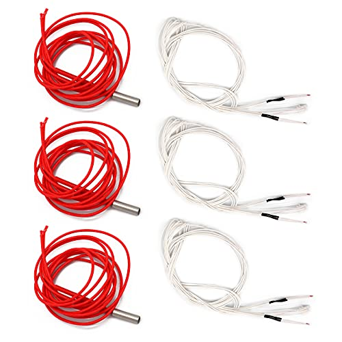 APKLVSR 24 V 40 W cartucho calentador termistor NTC 100 K 3950 alambre 1 m para Ender 3 Ender 3 pro 3D impresora Accesorios