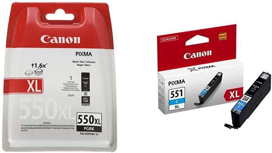 Canon Pgi 550 Pgbk Xl Druckertinte Pigment Schwarz Hohe Reichweite 22 Ml Für Pixma Tintenstrahldrucker Original Bürobedarf Schreibwaren