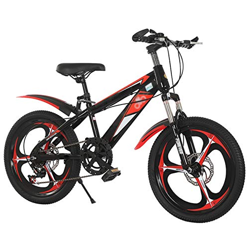 Boys Bike,18 20 22 Inch Kids Bike Mountain Bicycles, 6 Variable Speed Disc Brake Shock-absorbing Mountain Bicycle, Kids Cruiser Cycling Rubber Tires, Boys Girls Fit For Over 8 Years Old