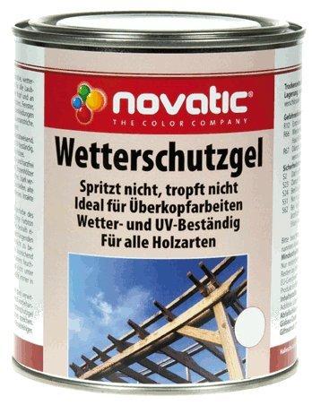 Novatic Wetterschutzgel KD61 - Palisander - Holzschutzgel Für Außen Und Innen - Wetterschutz Für Holz