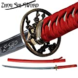 Samurai Katana Warrior Sharp Sword 1060 High Carbon Steel Full Tang Japanese H