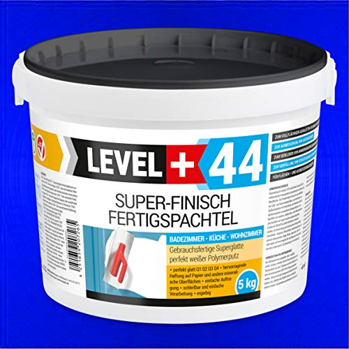 Super Finish Spachtel 5kg Fertigspachtel Q4 Perfekt Glätt Flächen Füll für Küche Bad Wohnzimmer RM44