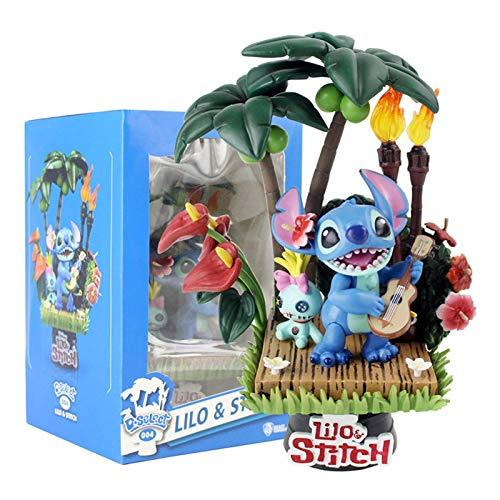 Action figure Beast Kingdom Lilo Toys Stitch and Scrump Hawaii Holiday Time...