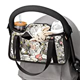 Petunia Pickle Bottom Wander Stroller Caddy | Perfect Baby Caddy to Keep Everything Organized | Multiple Carry Positions - Fits Most Strollers | Disney's Beauty & The Beast - Pop Art Belle