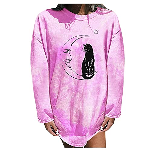 PLENTOP Sweatshirts for Women Hoodie Pullover Graphic Plus Size Blouse Womens Blouses 3/4 Sleeve Business Casual
