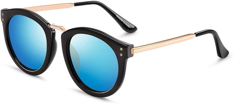 Fashion Polarized Sunglasses Women Fashion Retro Bright Sunglasses Women Driving Polarized Glasses Black Frame Ice bluee