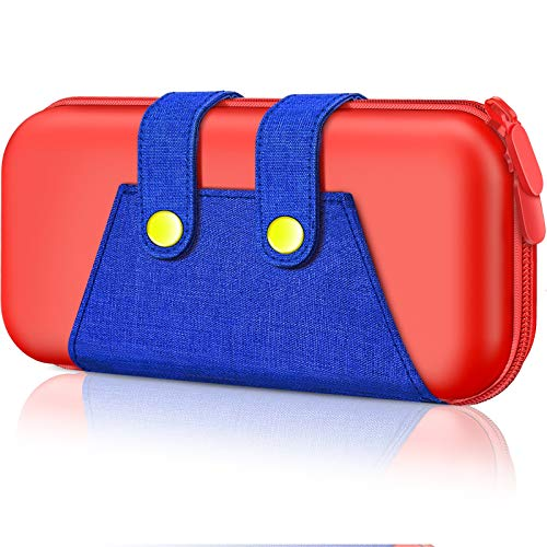 Switch Case for Nintendo, BEBONCOOL Switch Carrying Case Portable Travel Carry Case Compatible with Nintendo Switch Console & Accessories, Protective Shell Switch Storage Bag with Game Storage