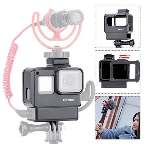 ULANZI V2 Multifunktionale Vlogging-Tasche für Gopro Hero 7 6 5 Action-Kamera-Schutzhülle mit Blitzschuhhalterung für LED-Videoleuchte mit Mikrofon