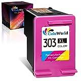 ColoWorld Remanufacturées 303 XL Couleur Cartouches d'encre pour HP 303XL pour HP Envy Photo 7134 6230 6220 7830 7130 6222 6234 6252 7120 7132 7800 7820 7858 7864 Tango Smart Home Imprimantes(1Paquet)