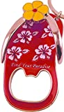 Flip Flop Bottle Opener Keychain by 4GS - The Ultimate Beach Accessory key chain holder or fridge magnet