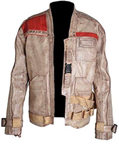 Classyak Wars-Force Herren-Jacke aus echtem Leder Gr. XXL, Schaf beige