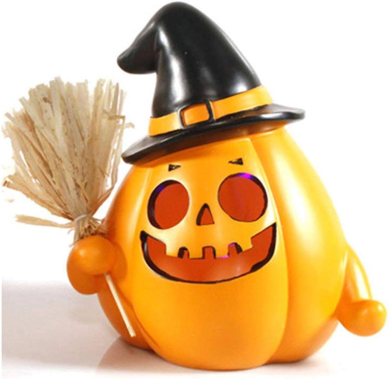 QWhing Festival-Maske Halloween Resin Kürbislaterne Ghost Festival beleuchtet Halloween Deko Requisiten Kostüm Maske (Farbe   B) B07Q2T2KVG Sonderangebot    Qualitativ Hochwertiges Produkt