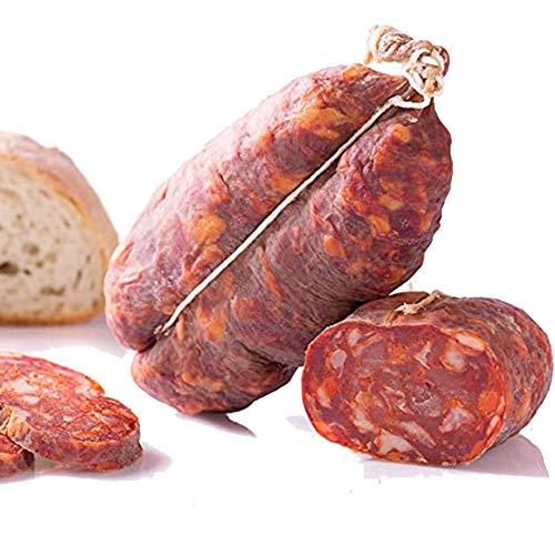 Soppressata Calabrese Salami Im Alter von süß 1 Kg Ohne Konservierungsstoffe nur lokales Fleisch und Chili - Salame Tipico - La Calabrese wie es früher war
