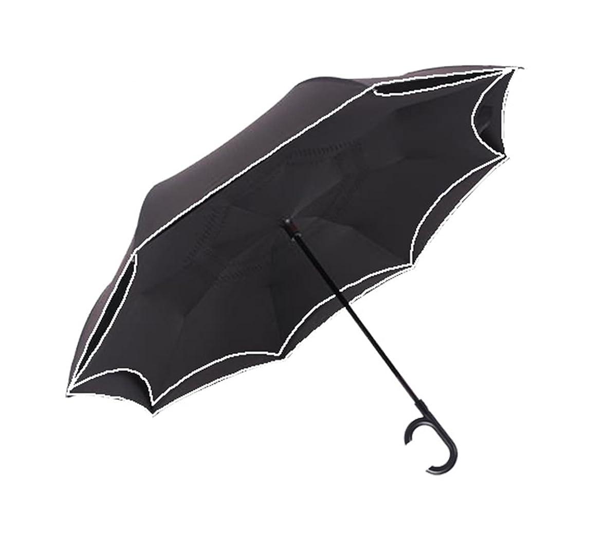 なめらかな報酬過言Maltose 逆さに開く二重傘 ワンタッチ自動閉 逆さ傘 逆閉じ傘 日傘 C型持ち手 自動反光傘 耐風撥水 晴雨兼用 レディース