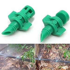 50 unidades de riego por goteo Kit de riego por goteo, cabezales de goteo atomizadores con conector en T para riego…