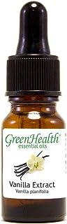 GreenHealth Vanilla Extract – 1/3 fl oz (10 ml) Glass Bottle w/Glass Dropper – 100% Pure Essential Oil