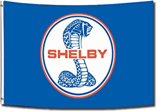 Shelby Mustang Fan 3x5 Foot Polyester Flag - Vivid Color and Double Stitched - Auto Ford Banner with Brass Grommets 3 X 5 ...