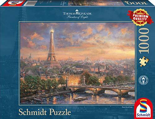 Schmidt Spiele Puzzle 59470 - Thomas Kinkade, Paris, Stadt der Liebe, 1.000 Teile Puzzle
