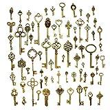 Hysagtek - Juego de 70 llaves antiguas de bronce, accesorios para bisutería, manualidades, collares...