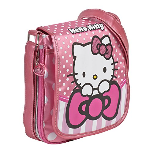 KARACTERMANIA 45653 Hello Kitty Bow Bolso Bandolera, 22 cm, Rosa