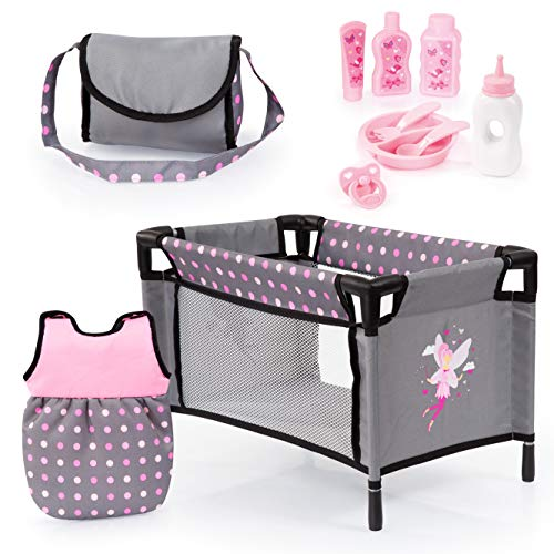 Bayer Design Baby Doll Travel Bed and Accessories Set