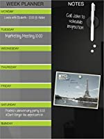 Best-Rite Black Magnetic Glass Dry Erase Weekly Planner 18 x 24 Inches (84109) [並行輸入品]
