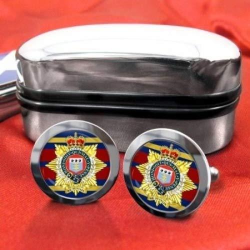 Royal logistiques Corps en Chrome pour homme Boutons de manchette avec coffret cadeau