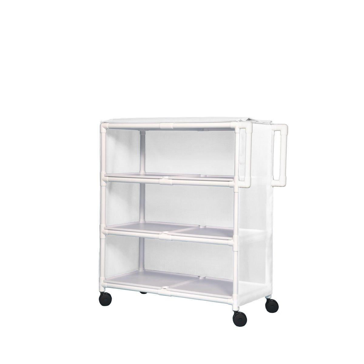 Jumbo Linen Cart - Soldering Three Max 58% OFF White Shelves Chek Sure