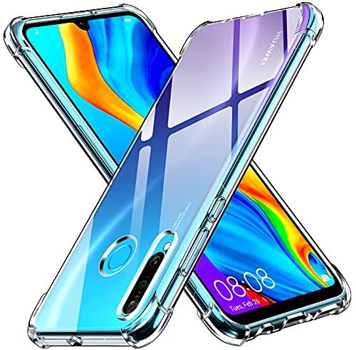 ivoler Funda para Huawei P30 Lite/Huawei P30 Lite New Edition/Honor 20S, Carcasa Protectora Antigolpes Transparente con Cojín Esquina Parachoques, Suave TPU Silicona Caso Delgada Anti-Choques Case