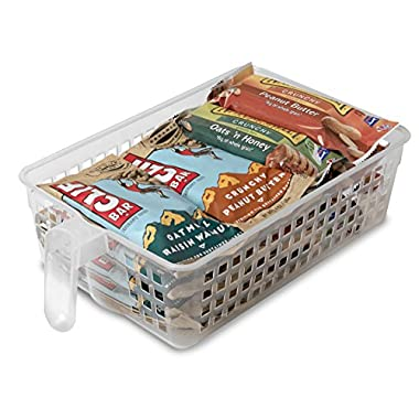 Perfect Pantry Polypropylene Handy Basket for Granola Bars and Soup/Veggie Cans, Clear