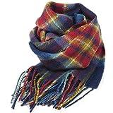 (ロキャロン) Lochcarron of scotland英国スコットランド製 ラムズウール100% タータンチェックマフラー 英国王室ご愛用 (ゴールデンホリルード)