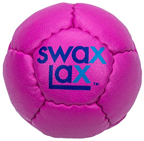 SWAX LAX Lacrosse Training Ball - Same Size & Weight as Regulation Lacrosse Ball but Soft - Indoor Outdoor Practice Ball with Less Bounce & Reduced Rebounds (One Plum Pink)