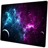 Shalysong Mouse pad Small Computer Mouse pad with Personalized Galaxy Design Office Non-Slip Rubber Mousepad