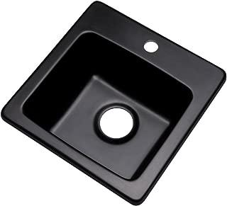 Dekor Sinks 27199Q Duxbury Composite Granite Prep Sink with One Hole, 16