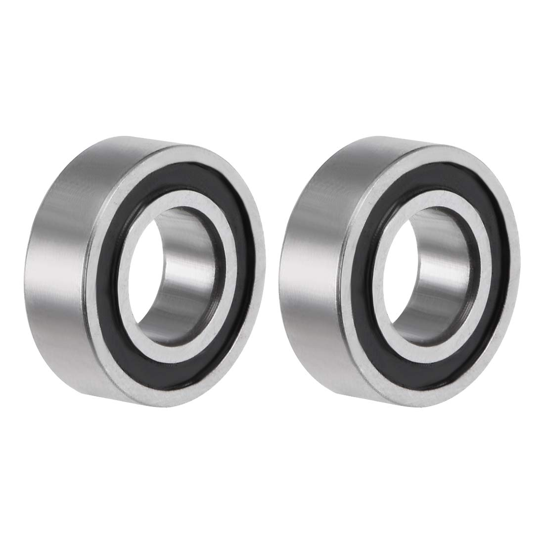 uxcell R4-2RS Deep Groove Ball Bearing 1//4x5//8x0.196 Double Sealed ABEC-3 Bearings 2-Pack