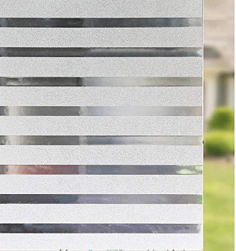 LMKJ Etiqueta engomada de la Ventana de privacidad Opaca esmerilada, película de Vinilo electrostática no Adhesiva, Etiqueta de Vidrio con Rayas Anti-Ultravioleta A97 40x200cm