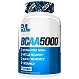 Evlution Nutrition BCAA5000 Muscle Building Capsules(30 Servings)