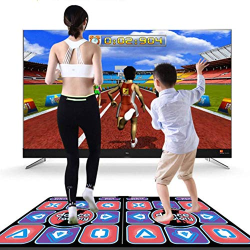 --Wireless Dance Mat for Kids Adults,Parent-child dance mat,Double Non-Slip Dancer Step Pads for TV and PC,No WiFI Network, Plug and Play,Dancing/Aerobics/Hot Games with Three Choices(Double B) FBA