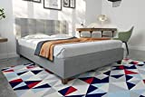 DHP Rose Linen Tufted Upholstered Platform Bed, Button Tufted Headboard and Footboard with Wooden Slats - Gray Linen - Full